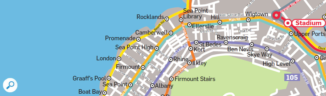 MiCity Bus Route to and from Sea Point - Holiday Accommodation in Self Catering Apartments